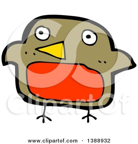 450x470 Cartoon Of A Robin Bird