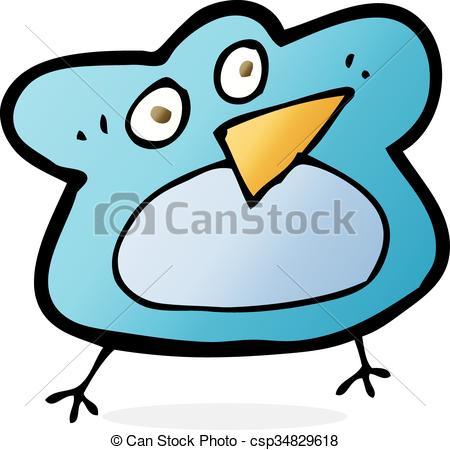 450x450 Funny Cartoon Robin. Funny Cartoon Bird Vector Clip Art