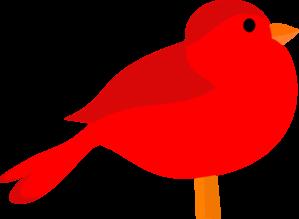299x219 Red Bird Clip Art