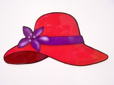 400x300 Red Hat Society Clip Art