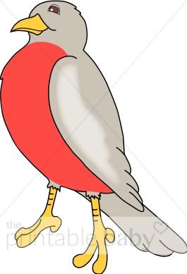 265x388 Red Robin Bird Clipart Bird Clipart