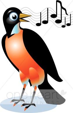 251x388 Singing Red Robin Clipart Love Bird Clipart