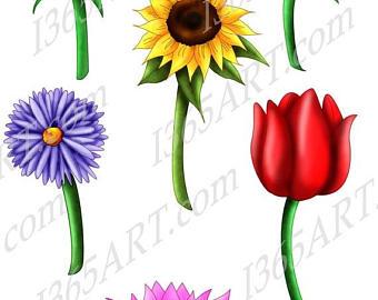 340x270 Lotus Clipart Etsy