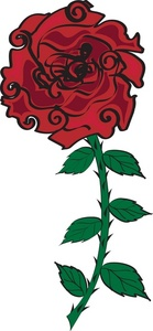 139x300 Pictures Rose With Thorns Clip Art,