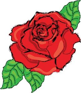 261x300 Red Rose Clip Art Images Clipart Panda