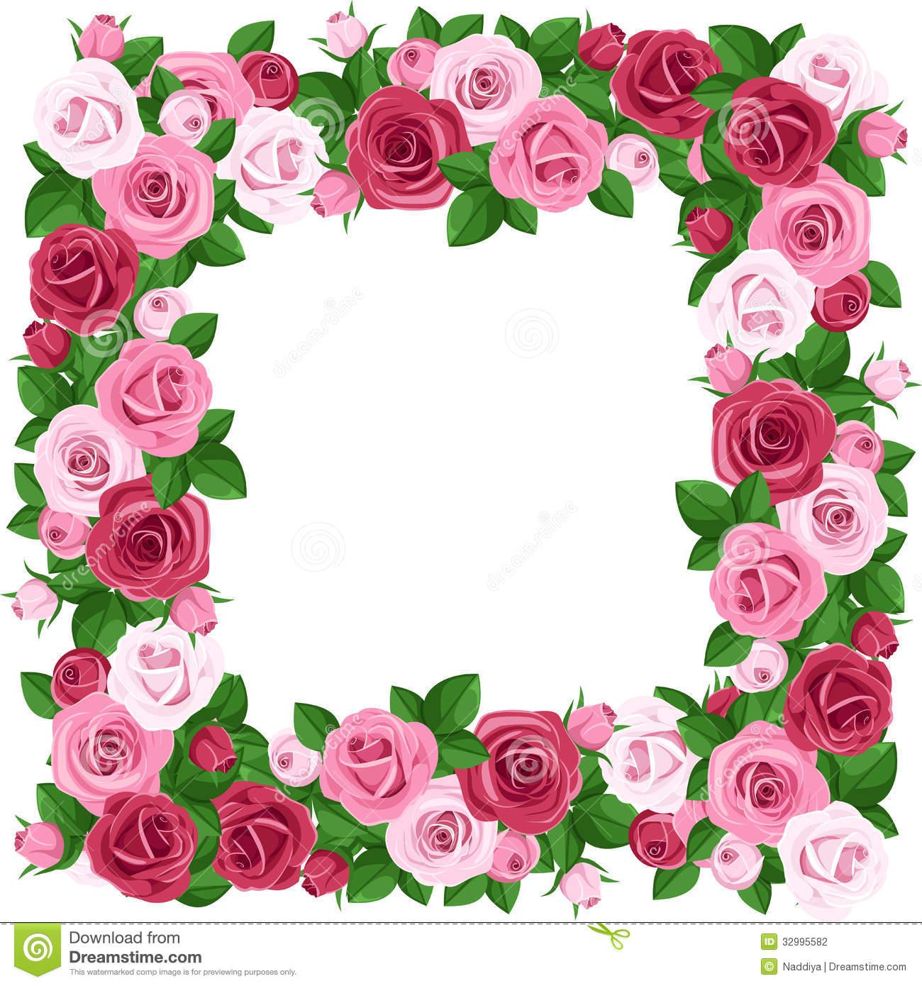 1300x1390 Red Roses Borders Clip Art
