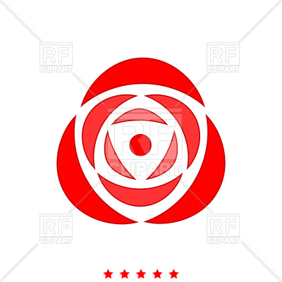400x400 Red Rose Icon On White Background Royalty Free Vector Clip Art