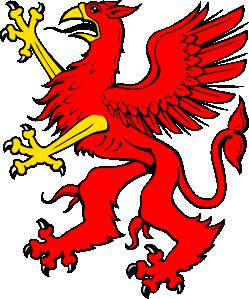 249x299 Red Griffin Clip Art
