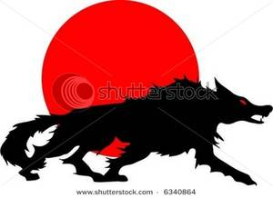 300x218 Red Moon Clipart