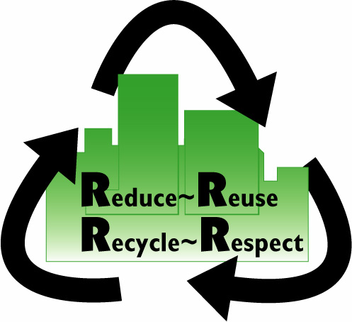 497x454 Reduce Reuse Recycle Respect