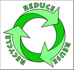304x287 Clip Art Reduce, Reuse, Recycle Logo 2 Color 2