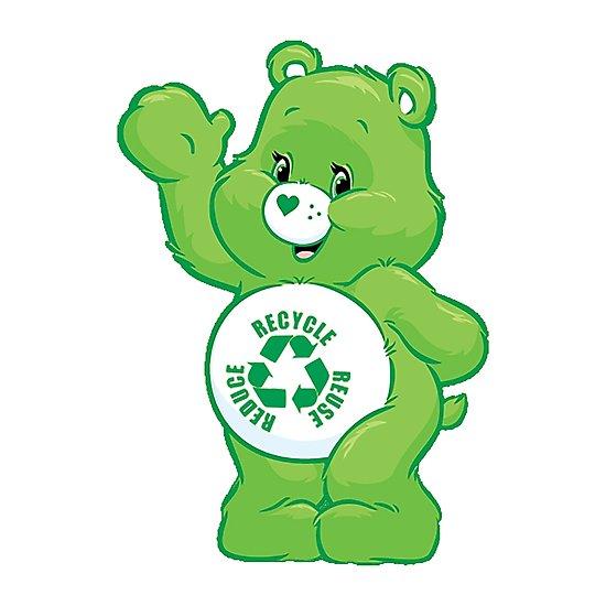 550x550 Recycle Carebear Carebears Care Bear Reduce Reuse Recycle