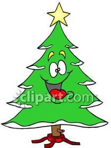 225x300 Smiling Cartoon Christmas Tree
