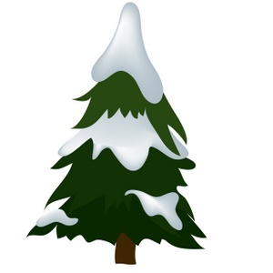 300x300 Snow Covered Tree Clipart