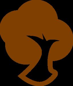 255x297 Brown Tree Icon Clip Art