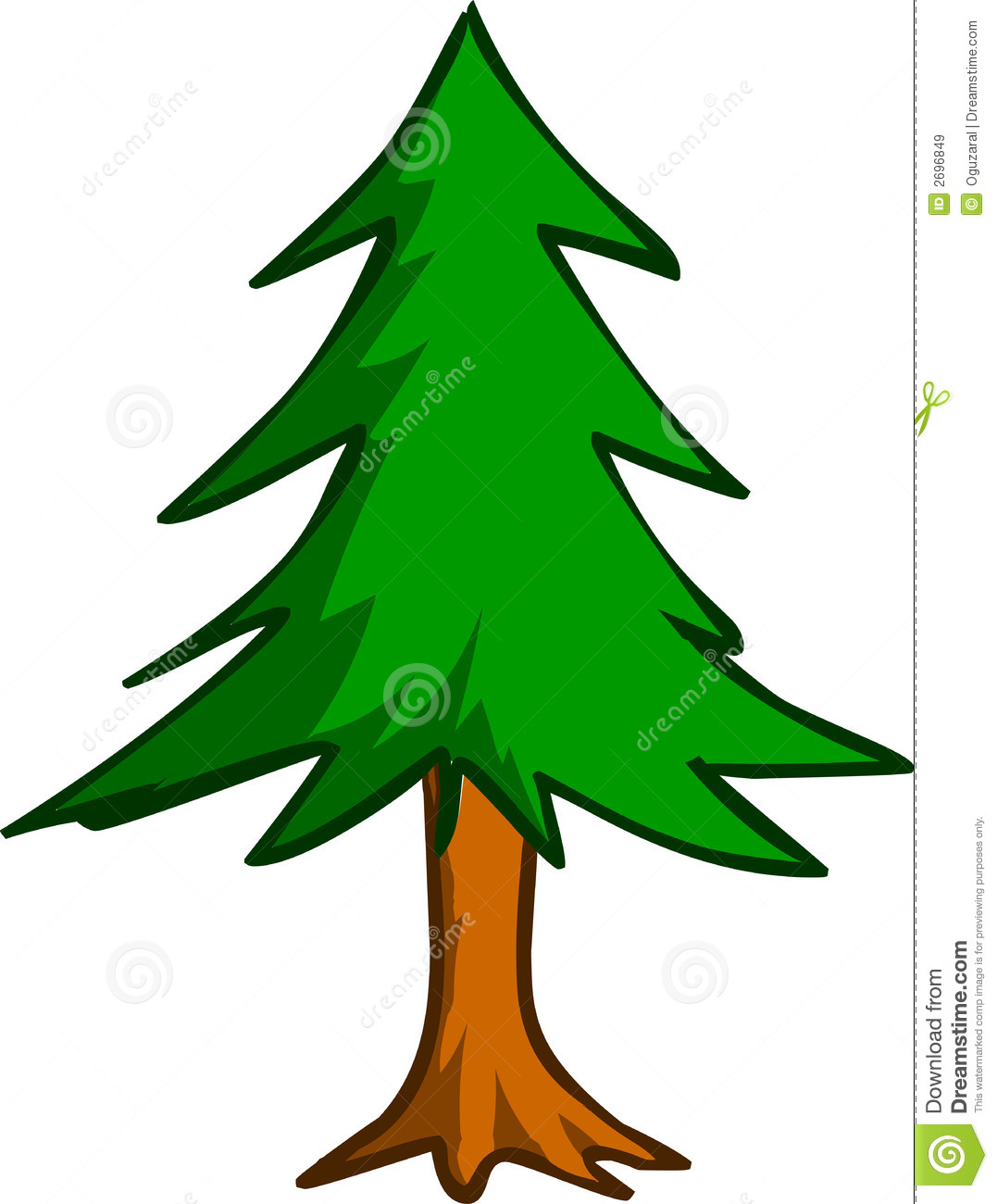 1077x1300 Cartoon Pine Trees 101 Clip Art