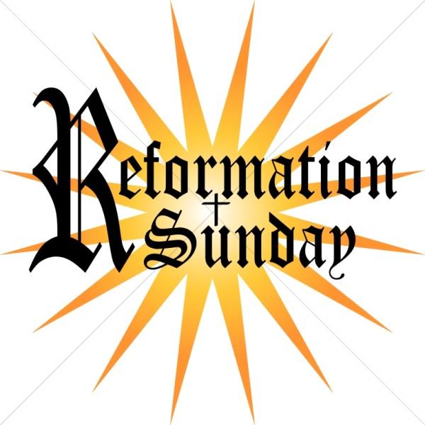600x600 Reformation Sunday Word Art Event Word Art