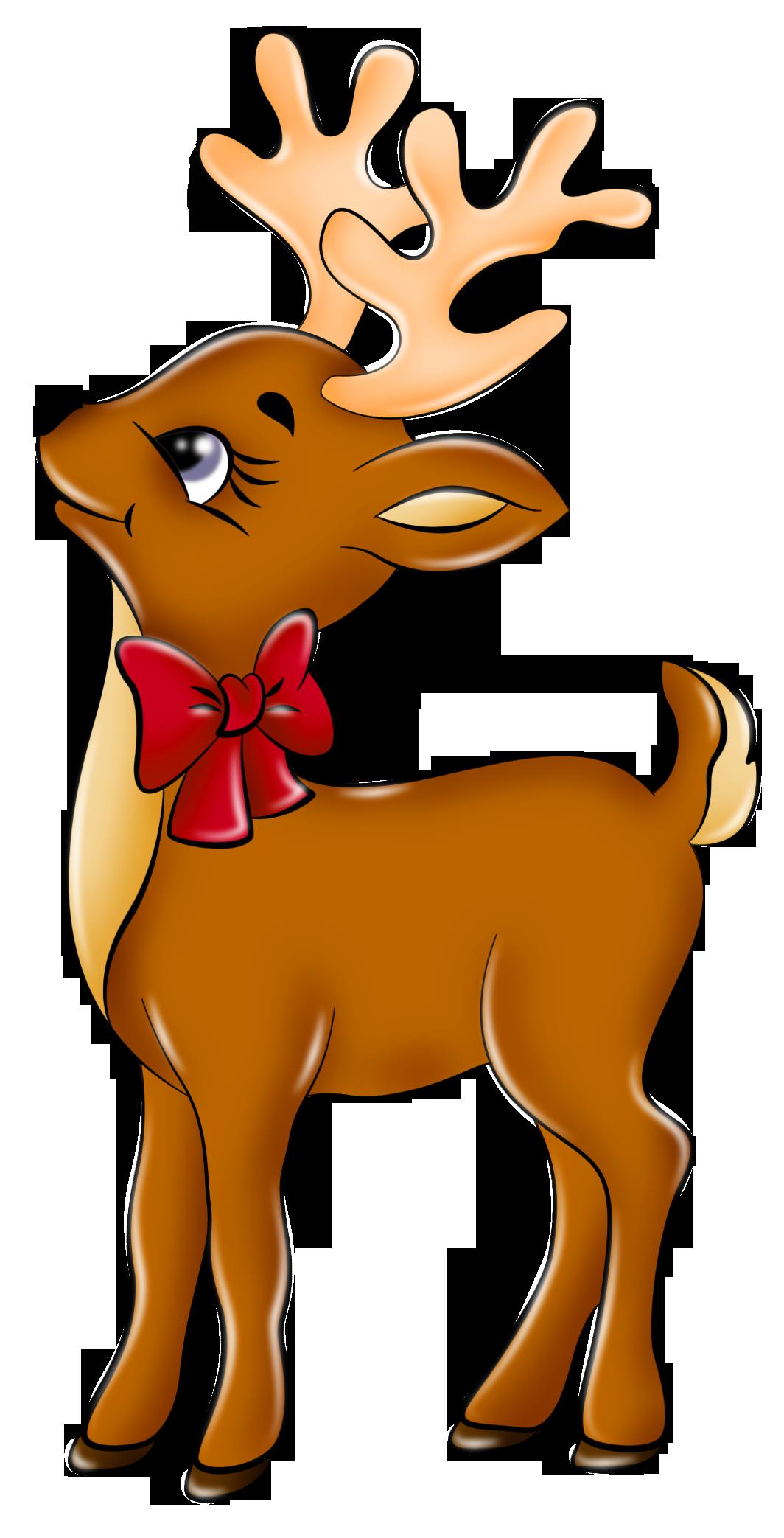 1064x2086 Cute Reindeer Clip Art Clipart