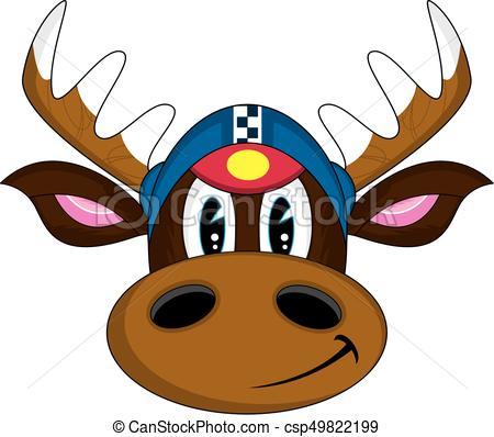 450x398 Cute Cartoon Reindeer Racing Driver Vector Illustration Eps