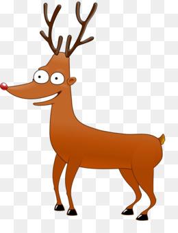 260x340 Rudolph Reindeer Santa Claus Cartoon Clip Art