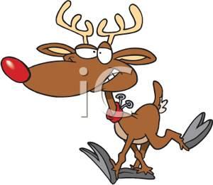 300x261 Sick Clipart Reindeer