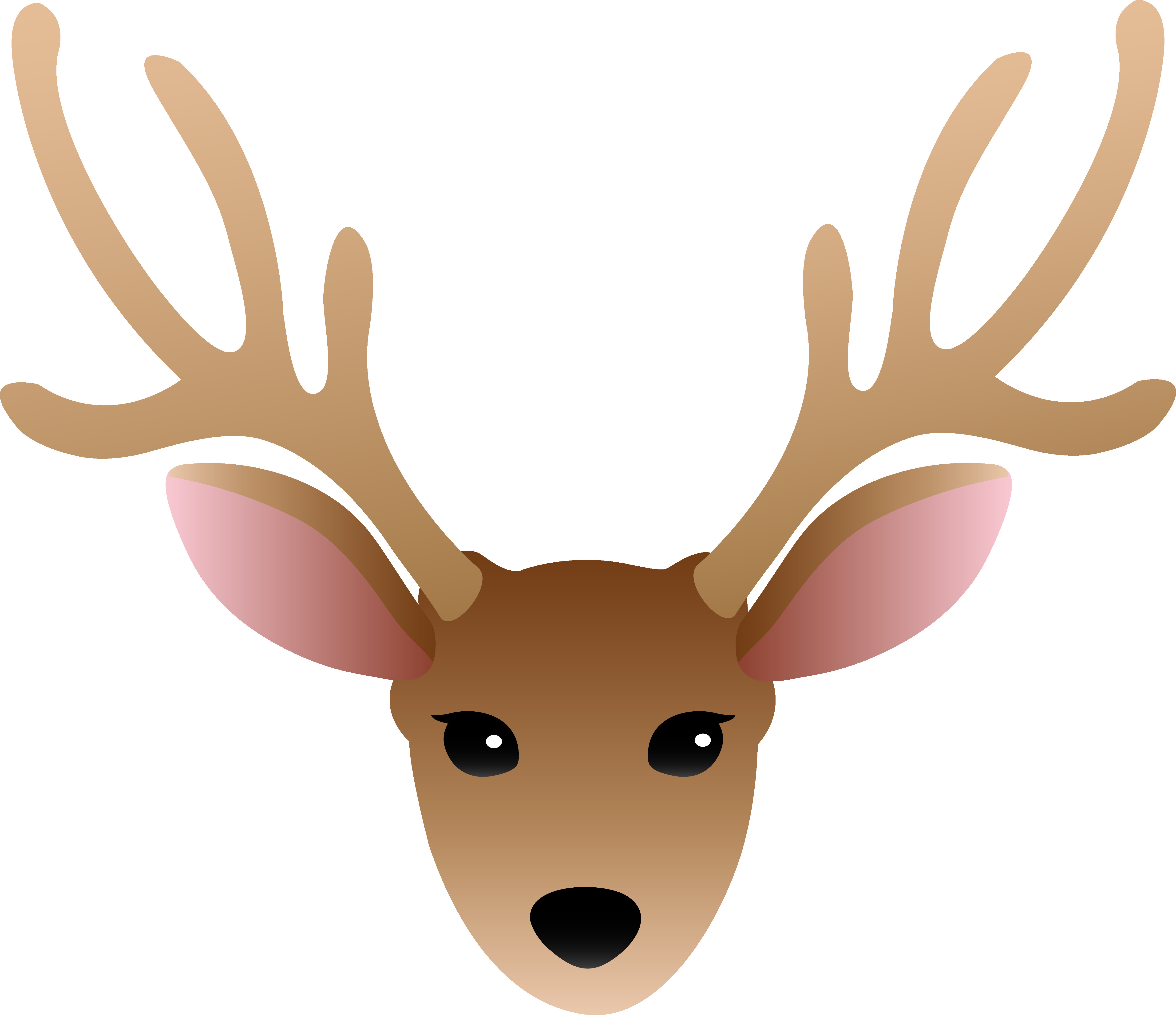 5001x4319 Face Of A Male Deer Free Clip Art Throughout Reindeer Clipart