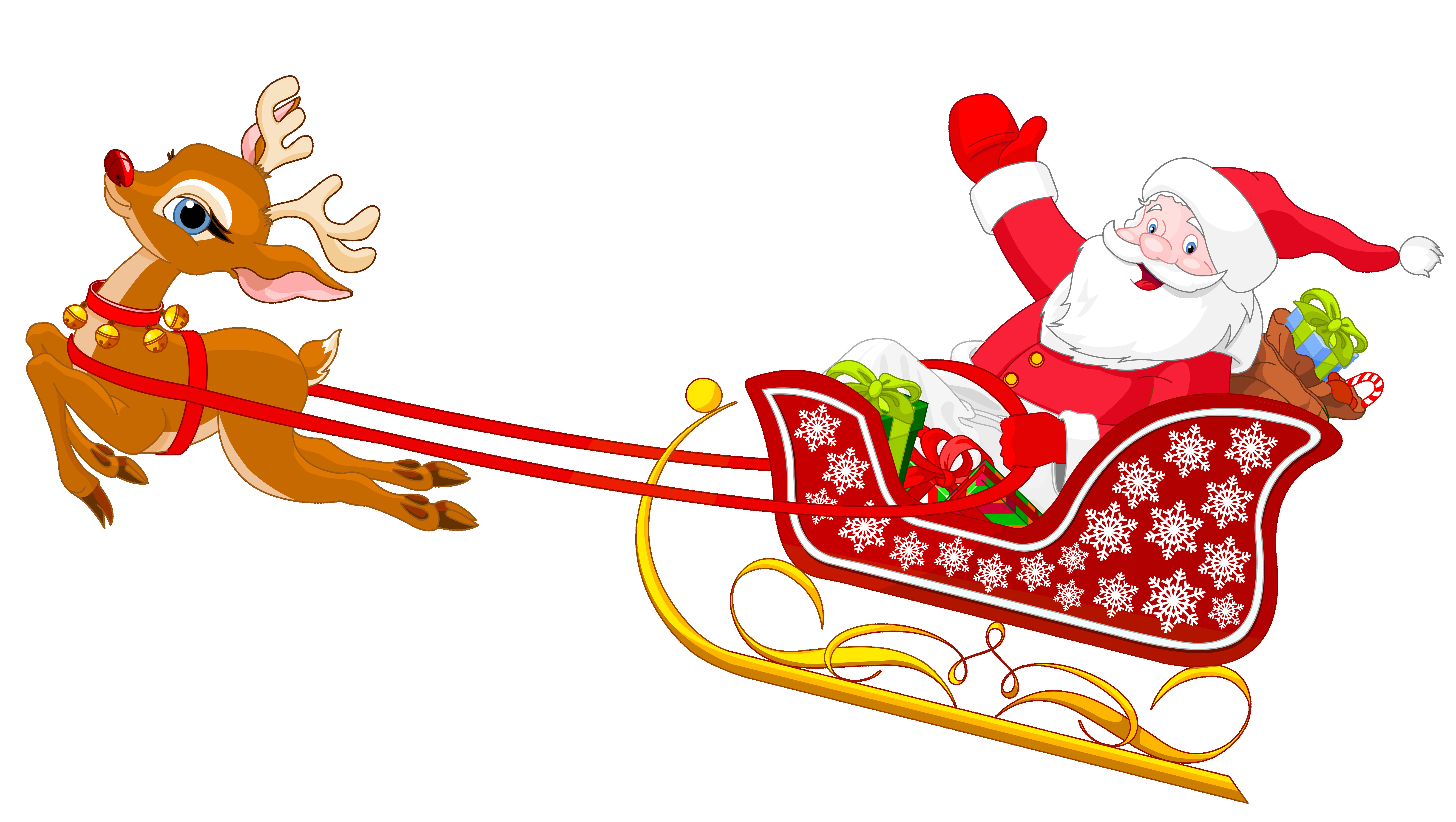 6337x3579 Free Santa Reindeer Cliparts Download Clip Art Fine With Clipart