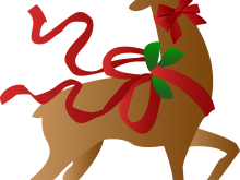 220x165 Free Christmas Reindeer Clipart Santa Reindeer Pictures Free Clip