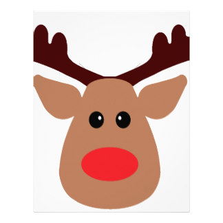 This is an image of Bright Printable Reindeer Face