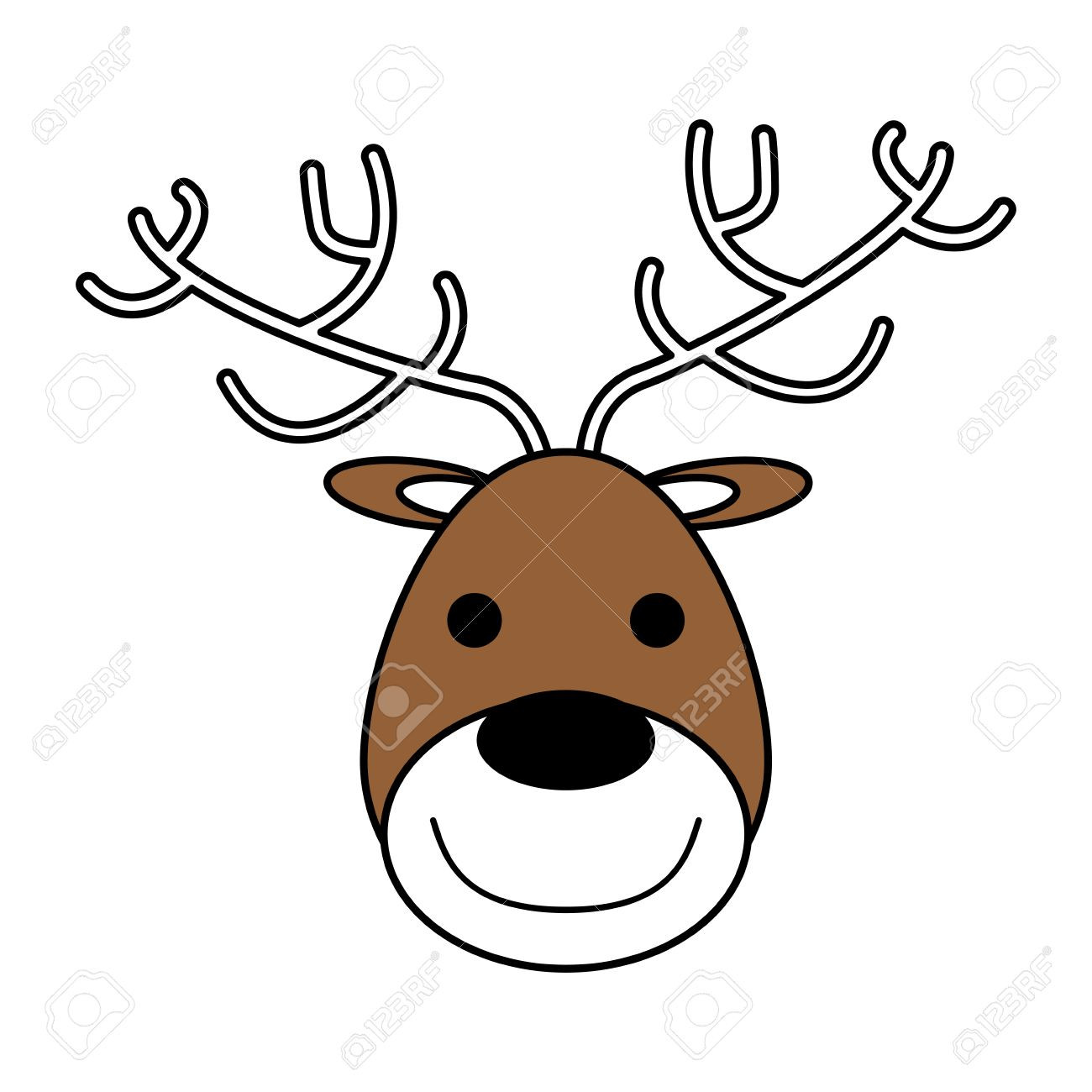 1300x1300 Reindeer Face Clipart 691477 Clip Art Net In Thatswhatsup