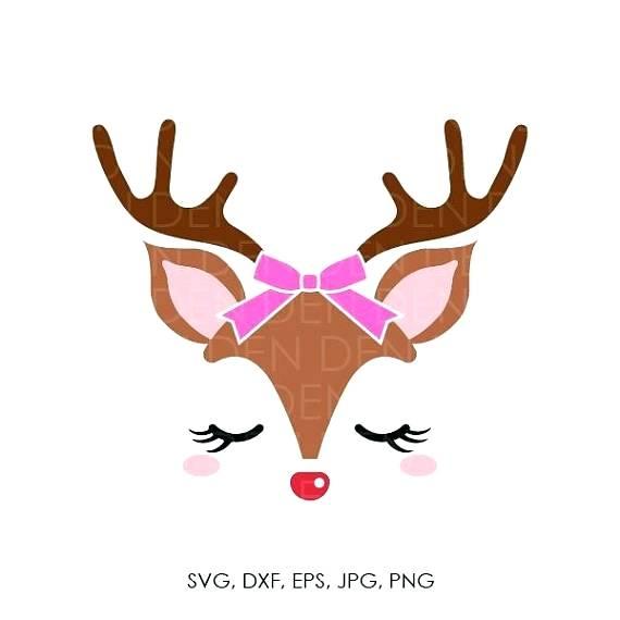 570x570 Reindeer Head Reindeer Head Silhouette Clipart
