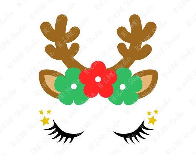 680x540 Reindeer Svg, Reindeer Head Svg, Reindeer Clip Art, Reindeer Face