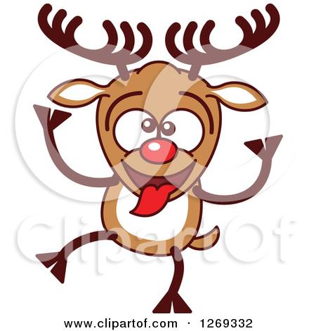 450x470 Funny Christmas Reindeer Clipart