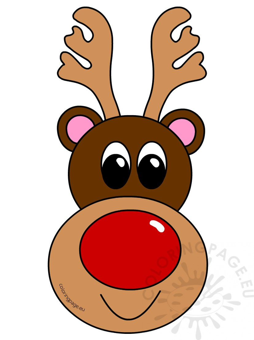 827x1107 Christmas Clipart Reindeer Head Coloring Page Ripping Clip Art