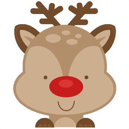 432x432 Peeking Reindeer Svg Scrapbook Cut File Cute Clipart Files