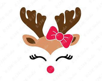 340x270 Reindeer Svg Christmas Svg Reindeer Head Svg Reindeer Clip