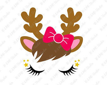 340x270 Collection Of Christmas Reindeer Head Clipart High Quality