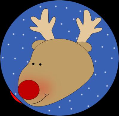 399x389 Unique Reindeer Head Clipart