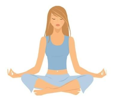 390x336 Free Relaxing Clip Art Footpath Yoga Chakra 1