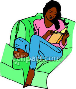258x300 Young Black Woman Relaxing With A Book
