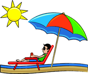 300x252 Beach Cartoon Clipart Image