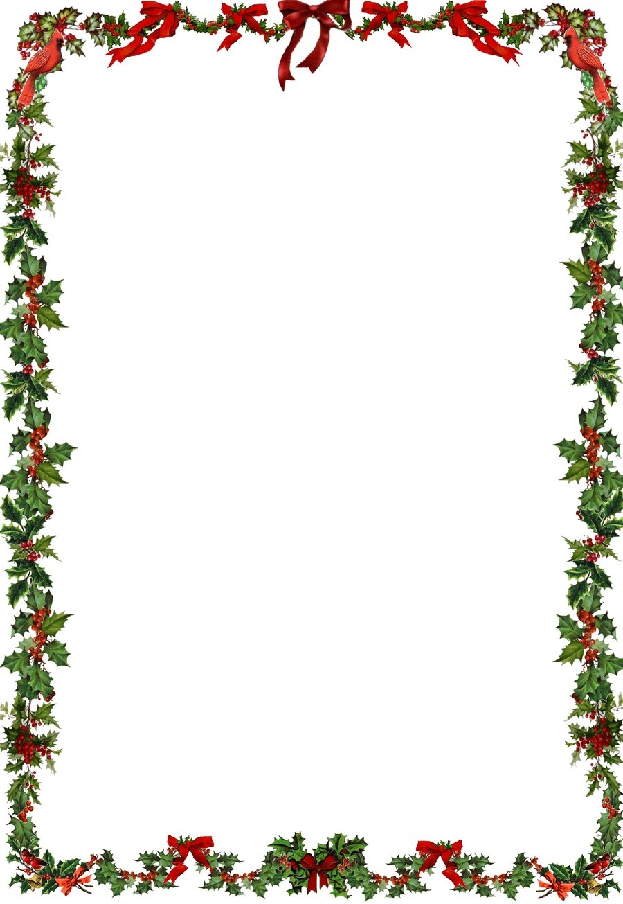 900x1305 Free Clipart Border Christmas