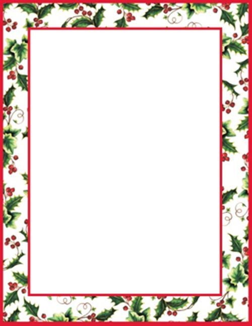 500x647 Holly Borders Clip Art Free Clipart Collection