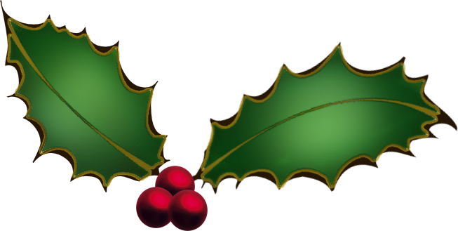 653x329 Christmas Ivy Clipart