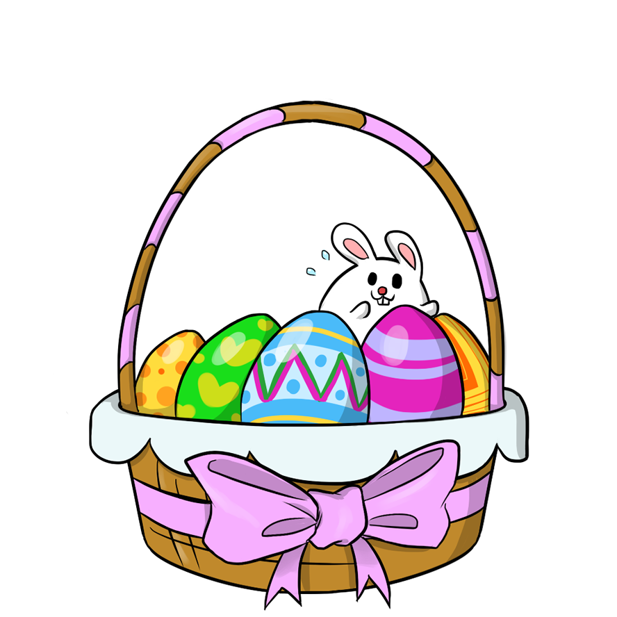 888x888 Easter Clip Art Black And White