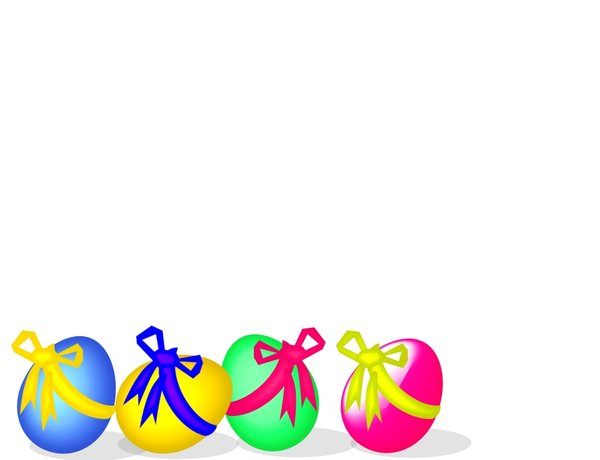 600x460 Clipart Easter Borders