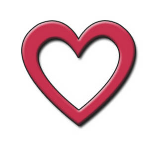 300x300 Free Clipart Picture Of An Open Red Heart