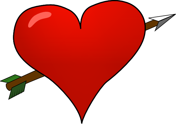 600x423 Valentine Heart Arrow Clip Art
