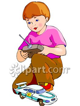 263x350 Clipart Picture Of A Boy Playing With A Remote Control Car