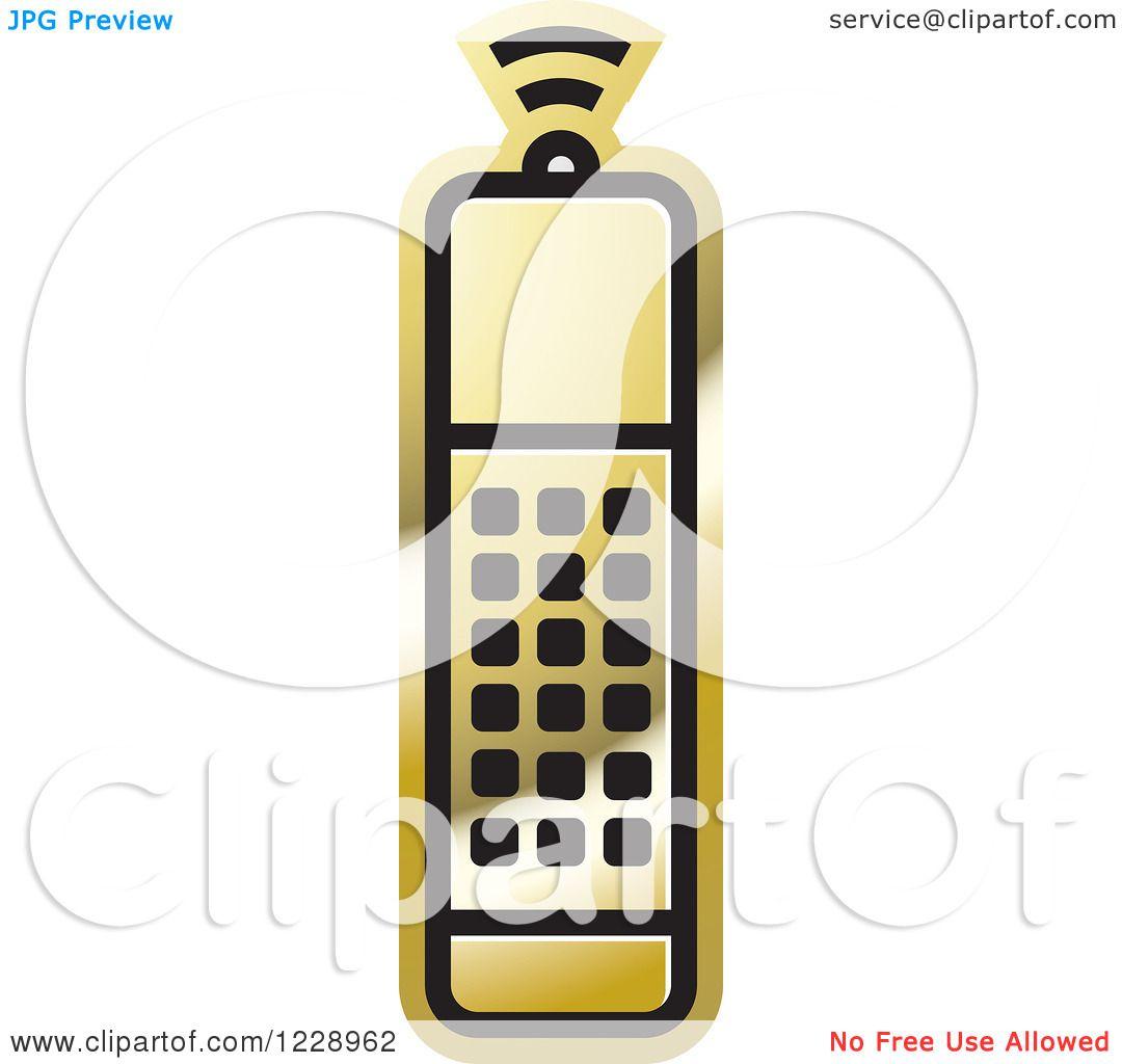 1080x1024 Clipart Of A Gold Remote Control Icon